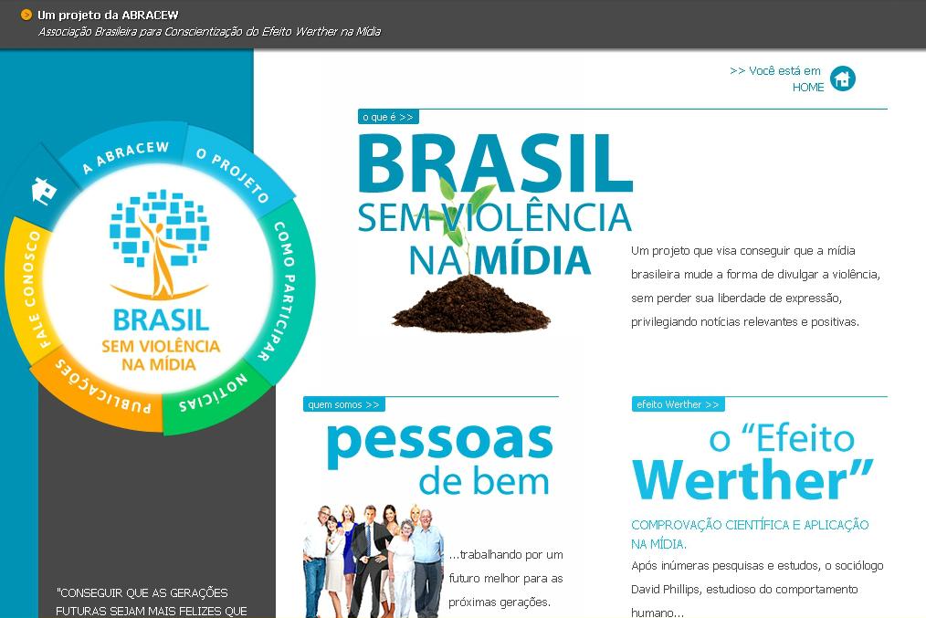 Site do Projeto Brasil sem Violência na Mídia