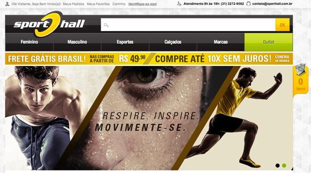 Sport Hall Loja Virtual
