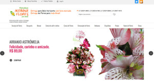 Site da Floricultura - Ikebana Flores