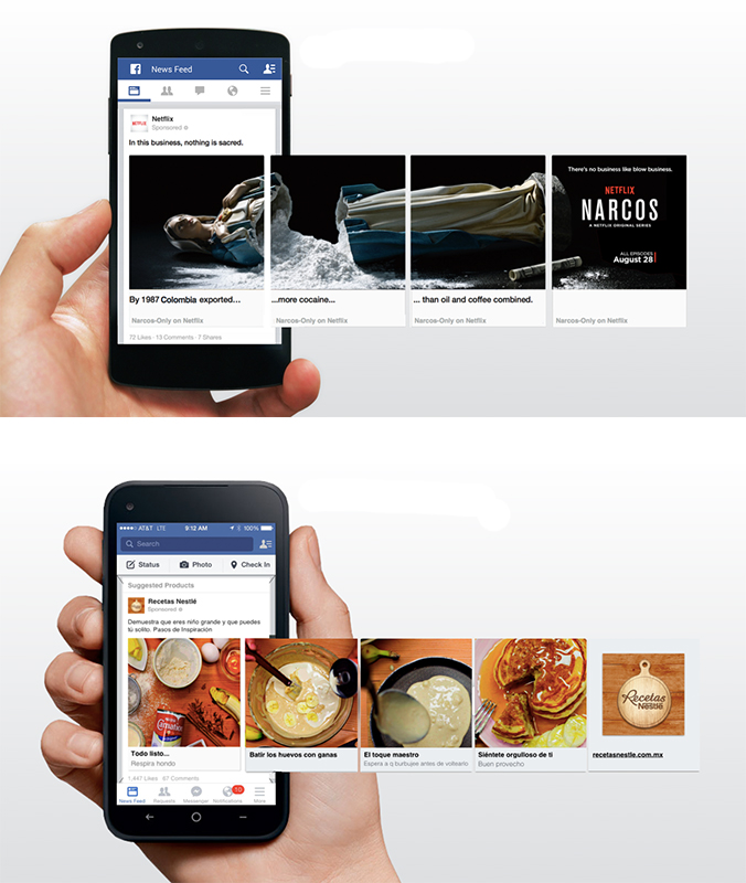Receita nestle carrosel facebook ads